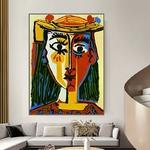 Art-moderne-c-l-bre-peinture-Picasso-Mujer-Con-Sombrero-peinture-l-huile-toile-peinture-Art