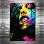 L-vres-Sexy-Graffiti-Art-toile-peintures-Art-color-fille-visage-affiches-et-sur-les-impressions