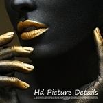Photo-imprime-artiste-Sexy-femme-noire-mod-le-affiches-et-impressions-Cuadros-Decoracion-mur-Art-photo