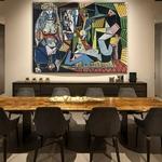 Les-Femmes-d-Alger-peinture-l-huile-sur-toile-uvre-c-l-bre-avec-Picasso-Art