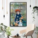 Peinture-l-huile-de-Renoir-deux-soeurs-sur-la-terrasse-Affiche-et-toile-imprim-e-image