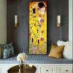 Affiche-d-artiste-classique-Gustav-Klimt-kiss-Peinture-l-huile-abstraite-sur-toile-affiche-imprim-e