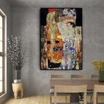 Gustav-Klimt-de-femmes-trois-ges-Peinture-l-huile-sur-toile-affiches-et-imprim-s-tableau