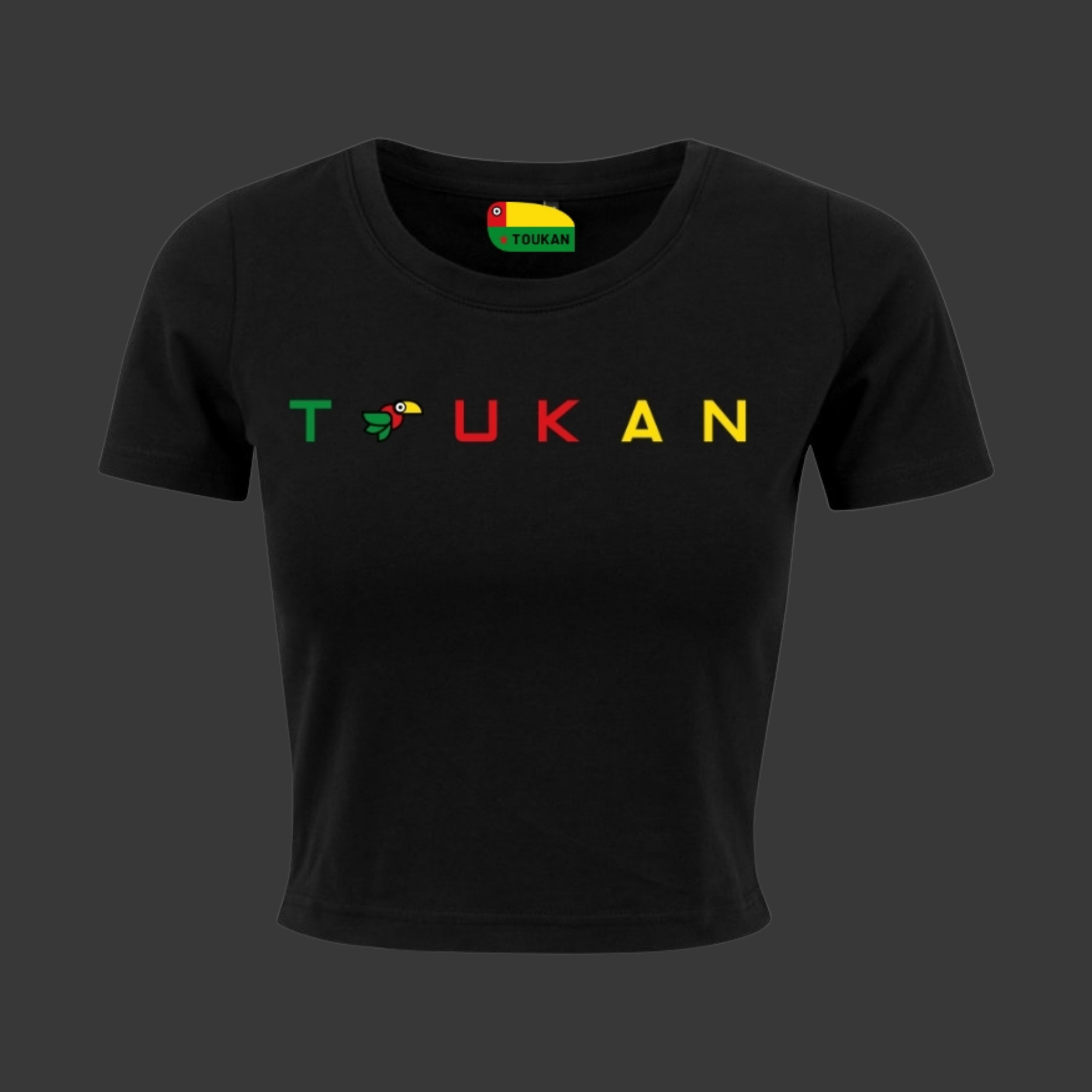 Crop top - TOUKAN - Noir - Femme