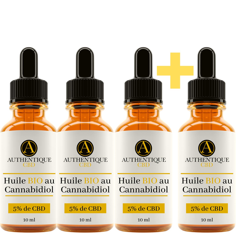 Pack de 4 fioles d\'huile de CBD Bio