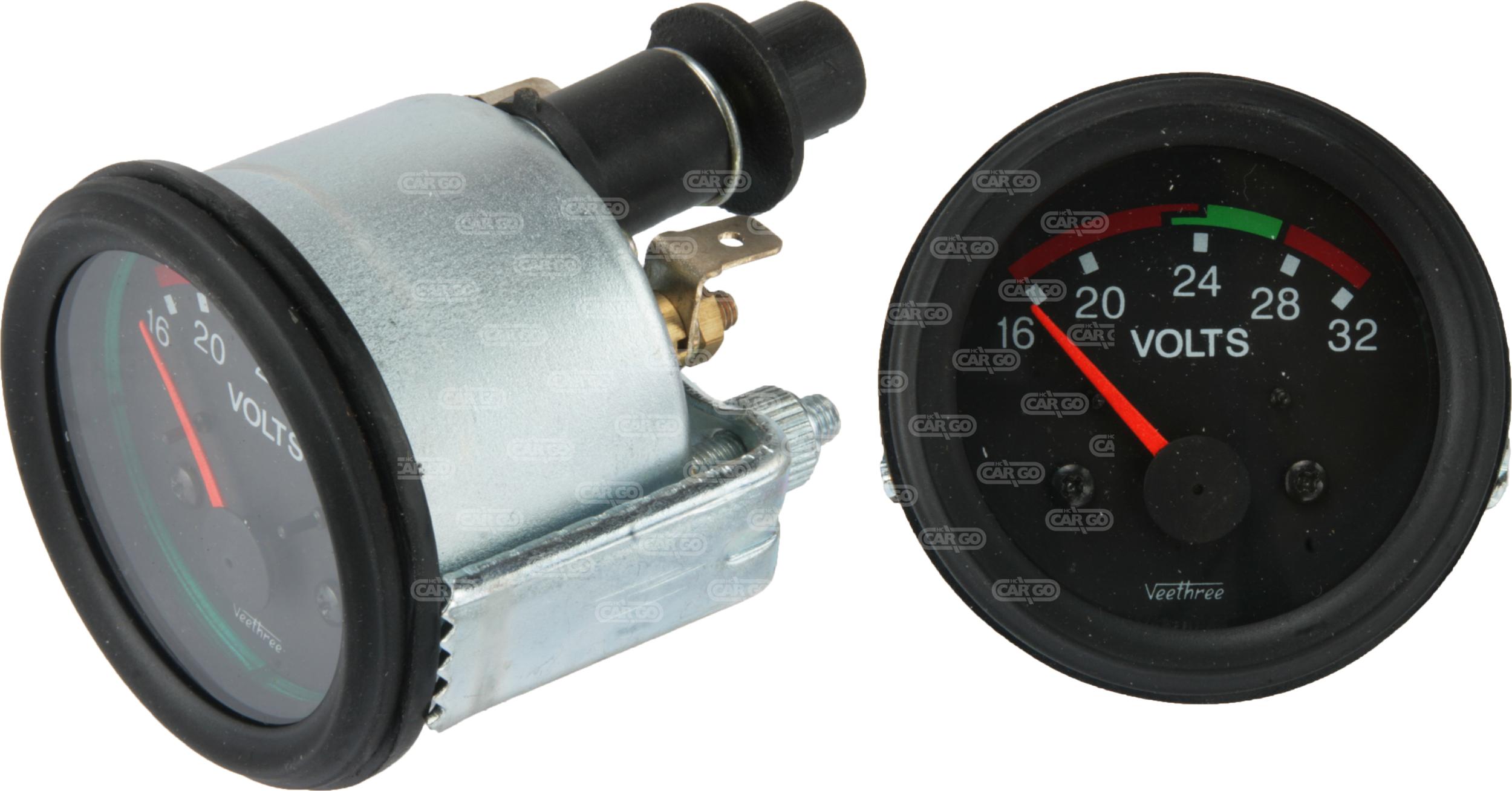 Voltmètre 16-32 V, 52 mm Od
