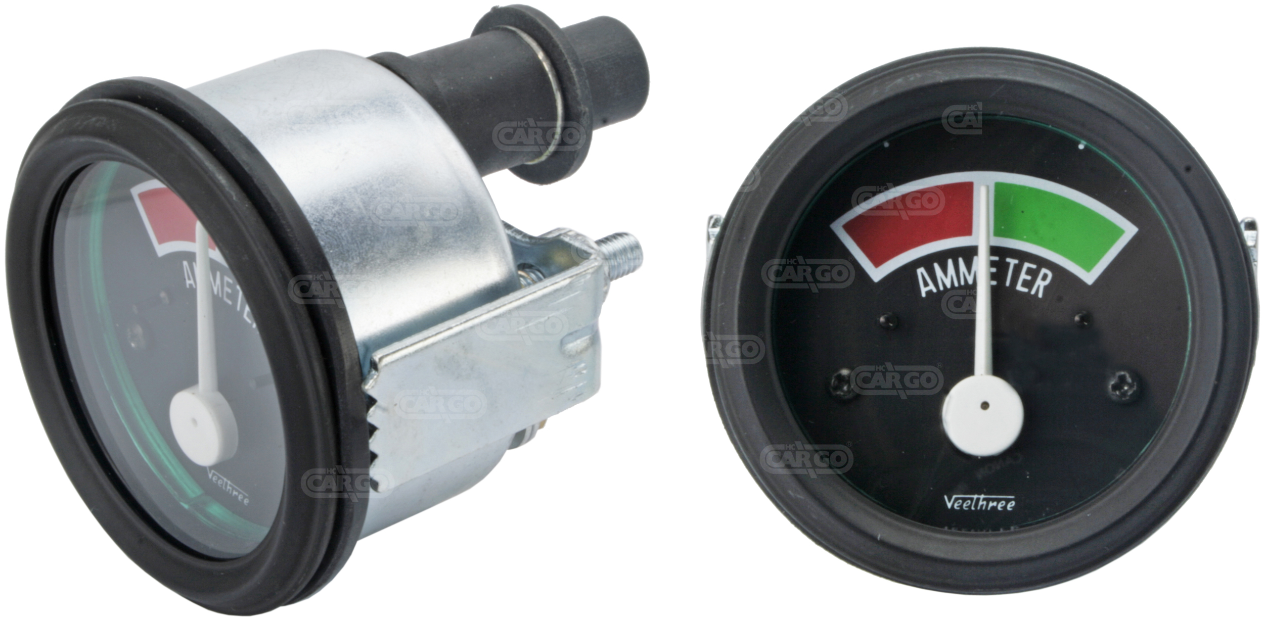Ampèremètre, 52 mm od, 60-0-60