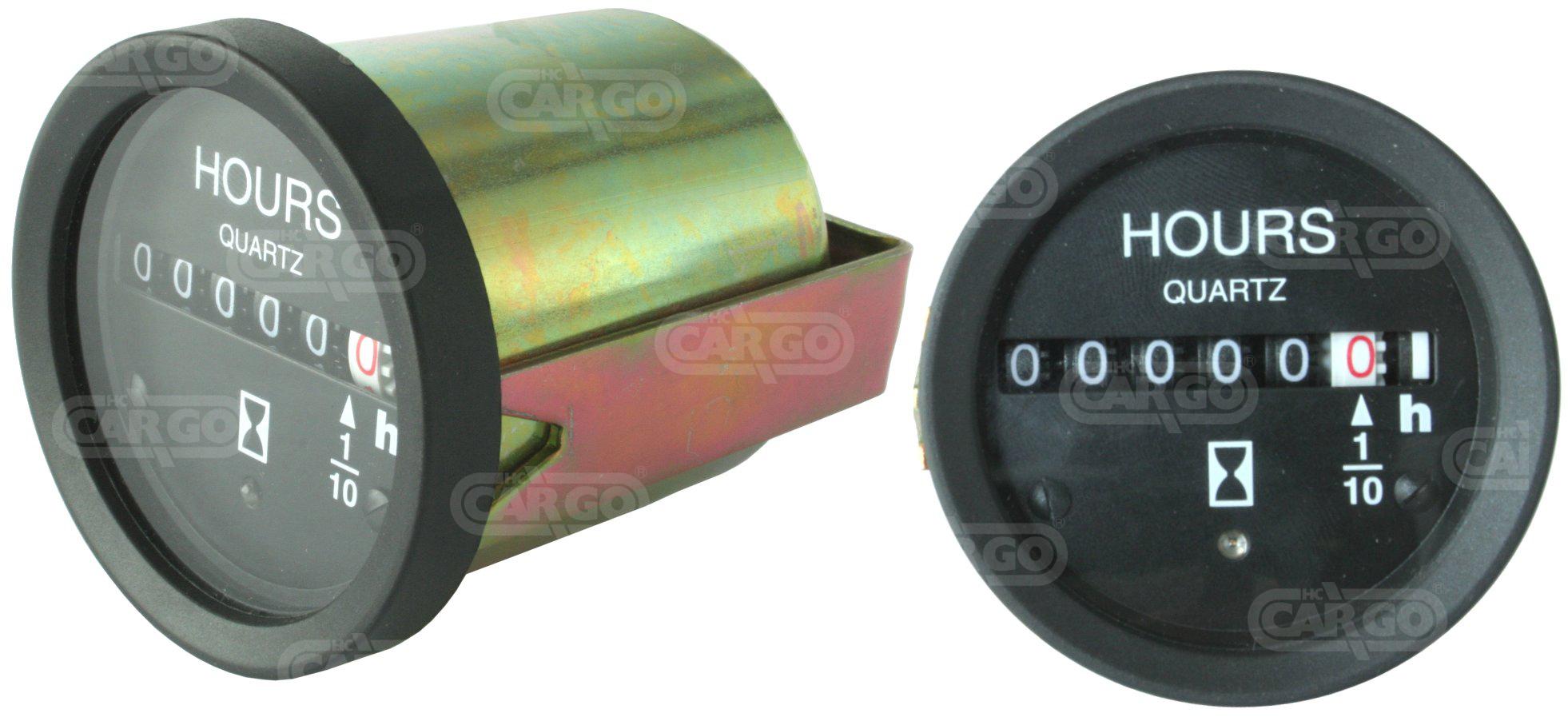 Horamètre 12-28 V, 52 mm Od