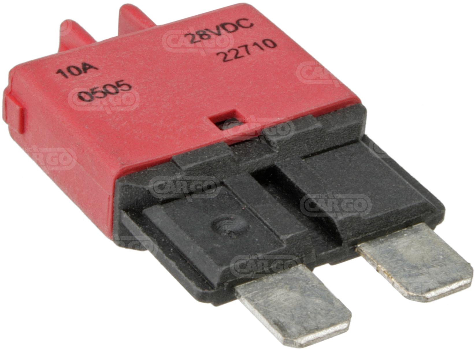 Fusible disjoncteur 19 mm, 10 A