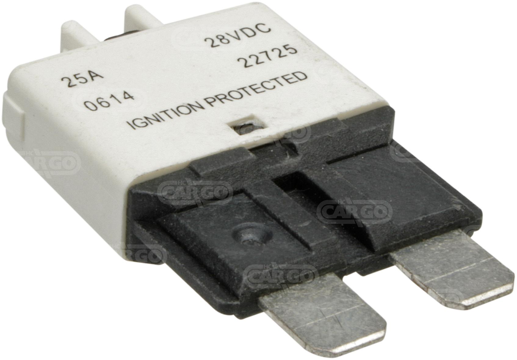 Fusible disjoncteur 19 mm, 25 A