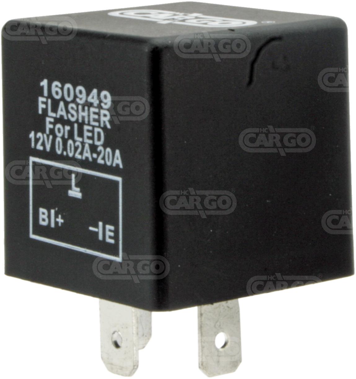 Centrale cligno 12 V, 3t pour LED