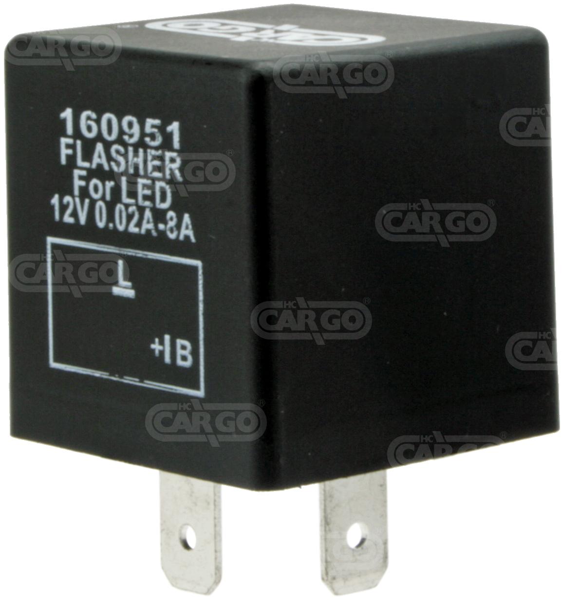 Centrale cligno 12 V, 2t pour LED