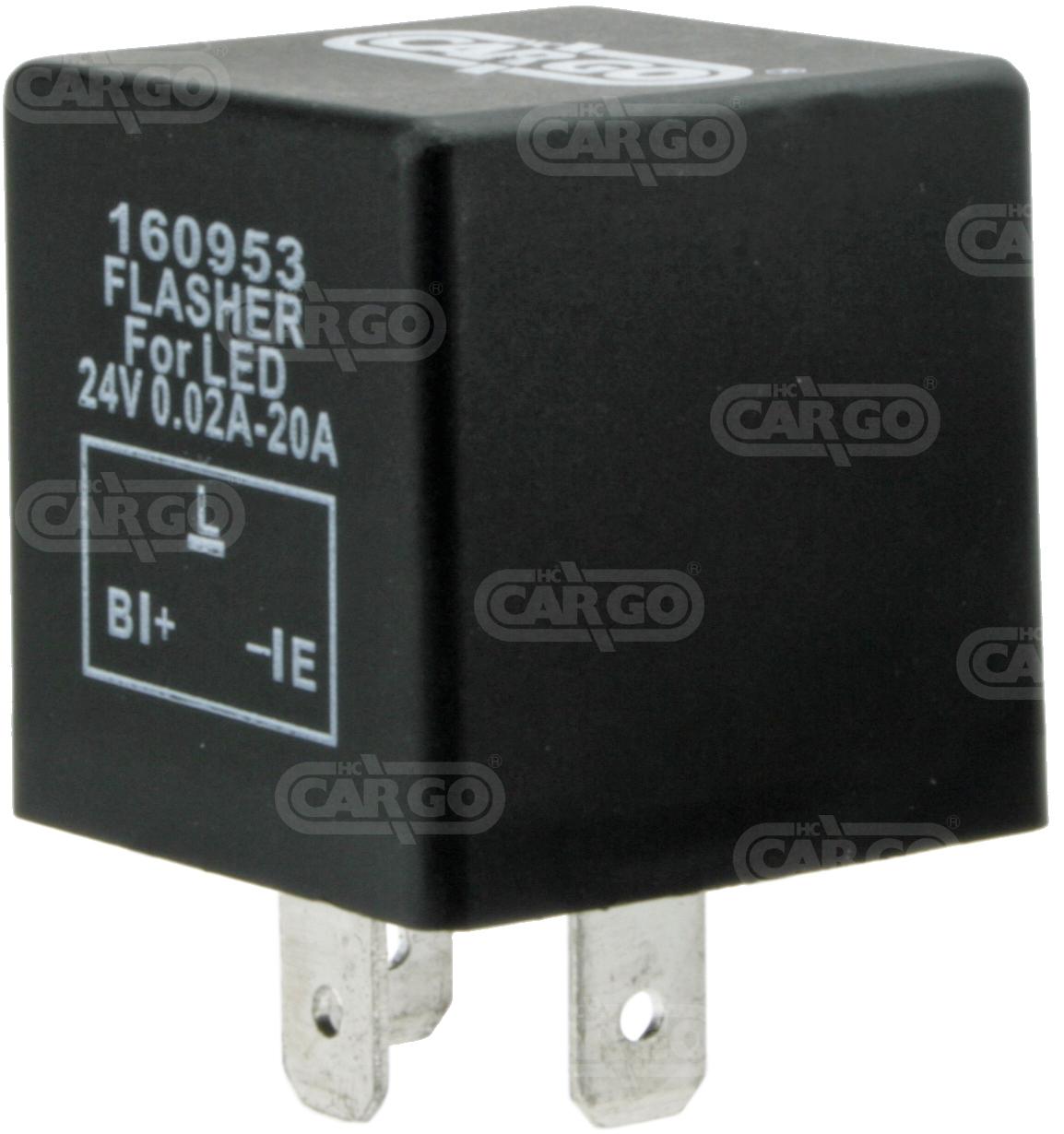 Centrale cligno 24 V, 3t pour LED