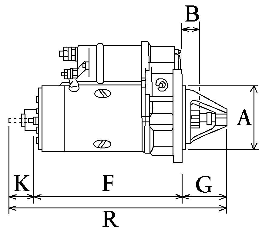 Démarreur 307  Spécifications électriques Voltage12 KW3.2