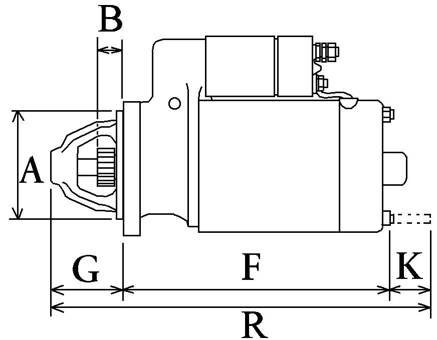 Démarreur 308  Spécifications électriques Voltage12 KW3.2