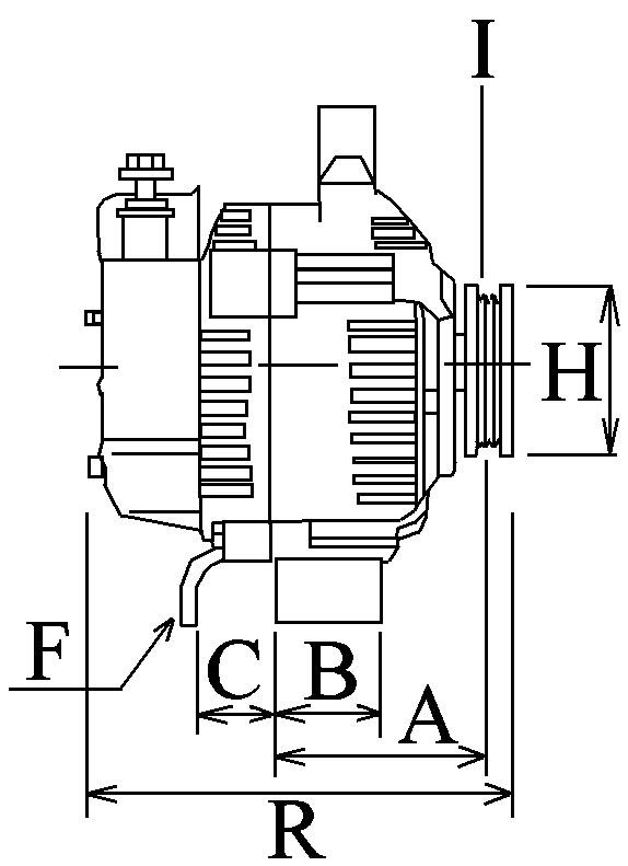 Alternateur 825 Voltage14 Amp150 BorneW