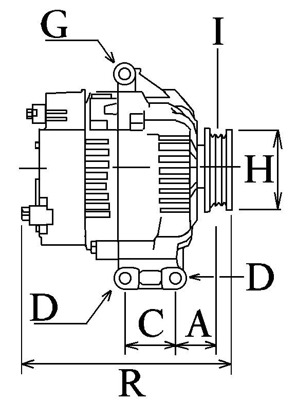 Alternateur 959 Voltage14 Amp120