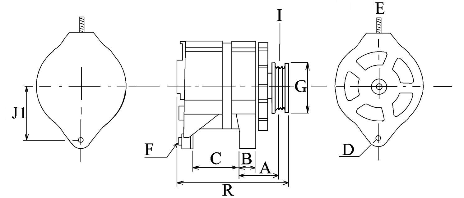 Alternateur 009 Voltage14 Amp110