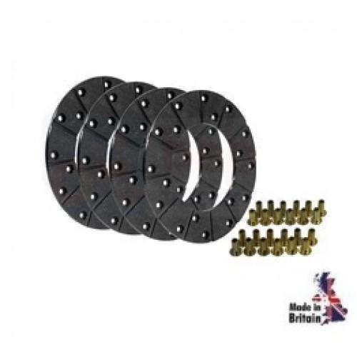 v5466-Kit de garniture de disque de frein (4 garnitures avec rivets)