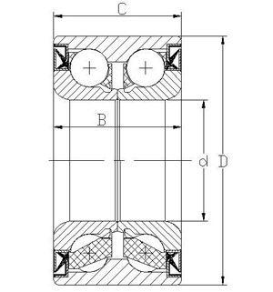 double row ball structure wheel bearing