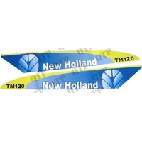 AUTOCOLLANT NEW HOLLAND TM120 BLANC