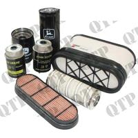 Kit de Filtres pour John Deere  Types :6020 SE, 6120 SE, 6220 SE, 6320 SE, 6420 SE, 6520 SE, 6120,6220,6320,6420, 6520
