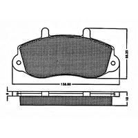 Plaquette de freins ,OPELMovano, RENAULTMaster