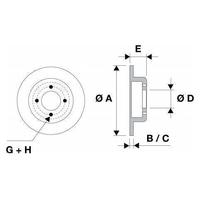 Disques de freins ,BMWSérie 5