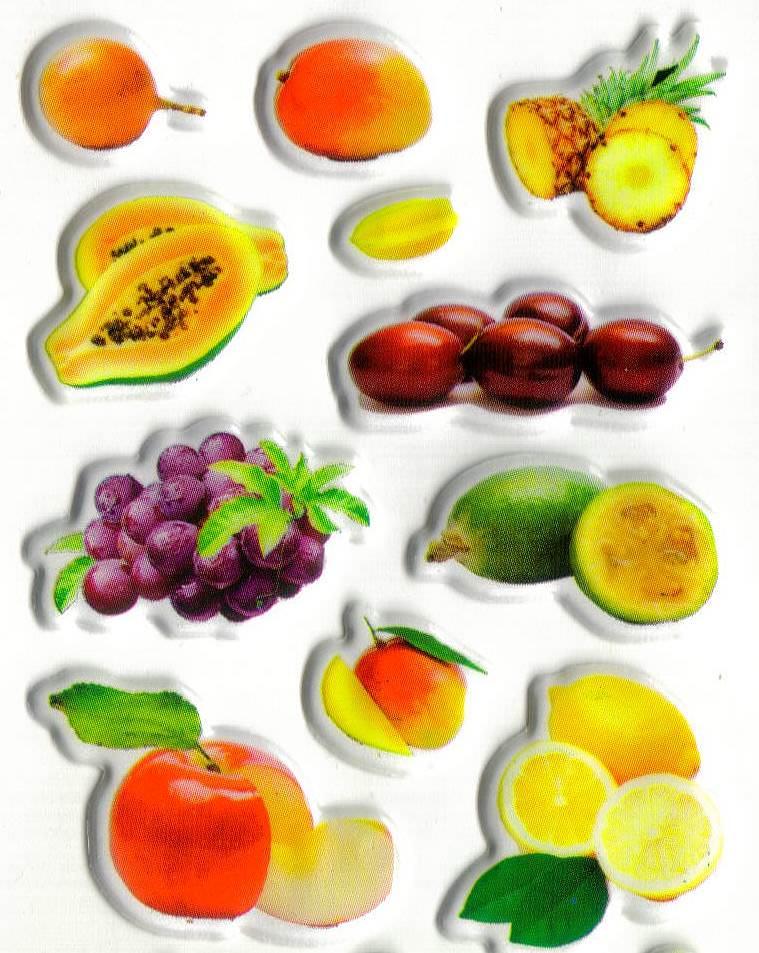 Gommettes autocollantes fruits exotiques - Image fruit exotique ...