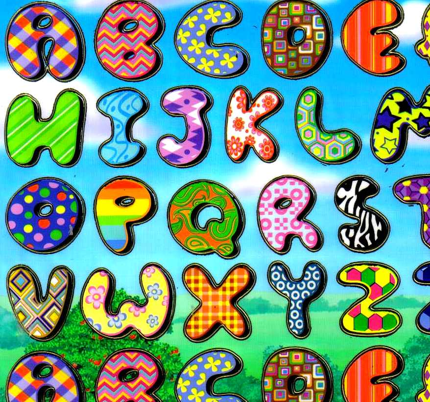 Gommettes alphabet autocollantes maternelle - Lettres de l alphabet a decorer ...