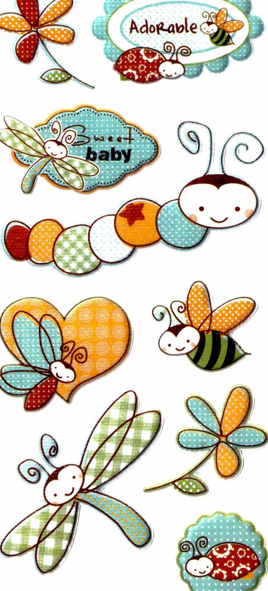 stickers scrapbooking naissance : Stickers, autocollants par dedes