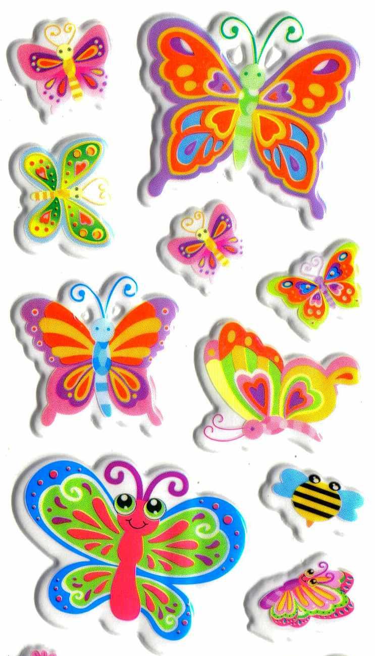 Gommette Papillons Graphiques 3D