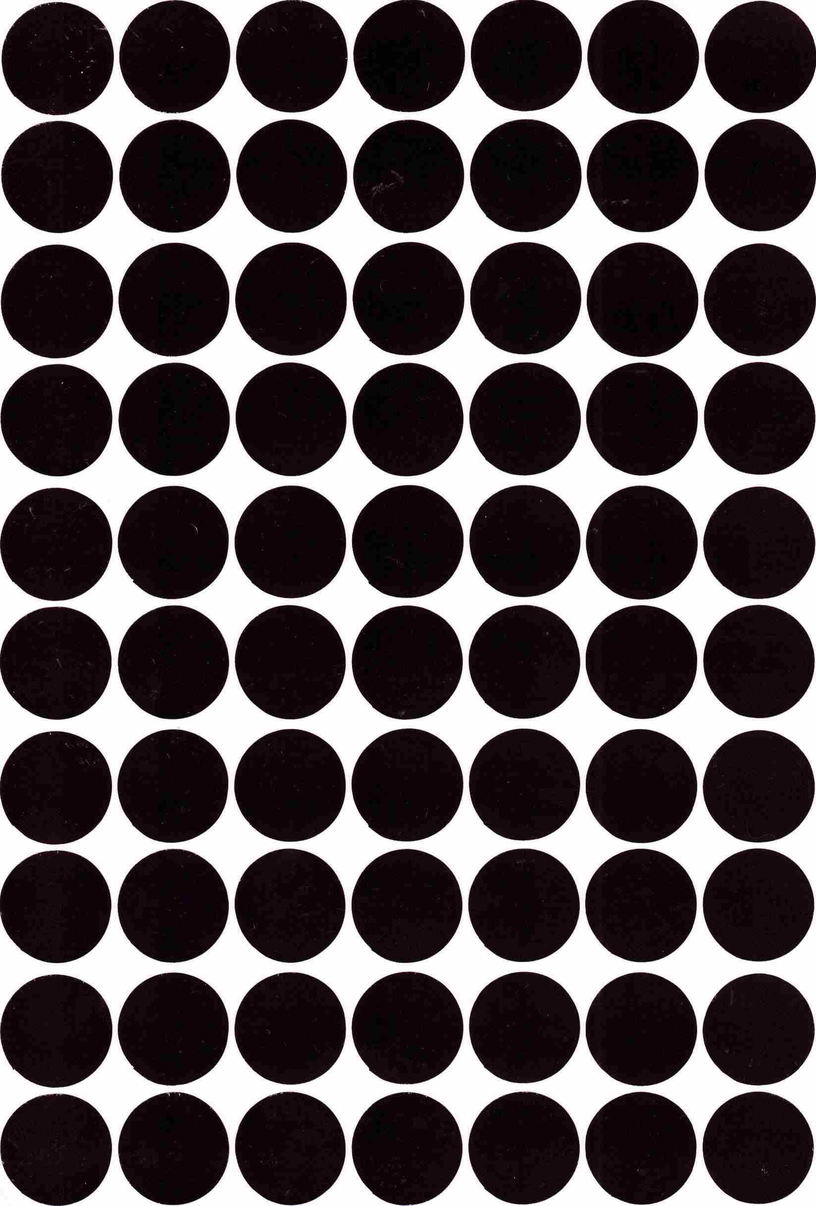70 gommettes rondes Noires 19mm