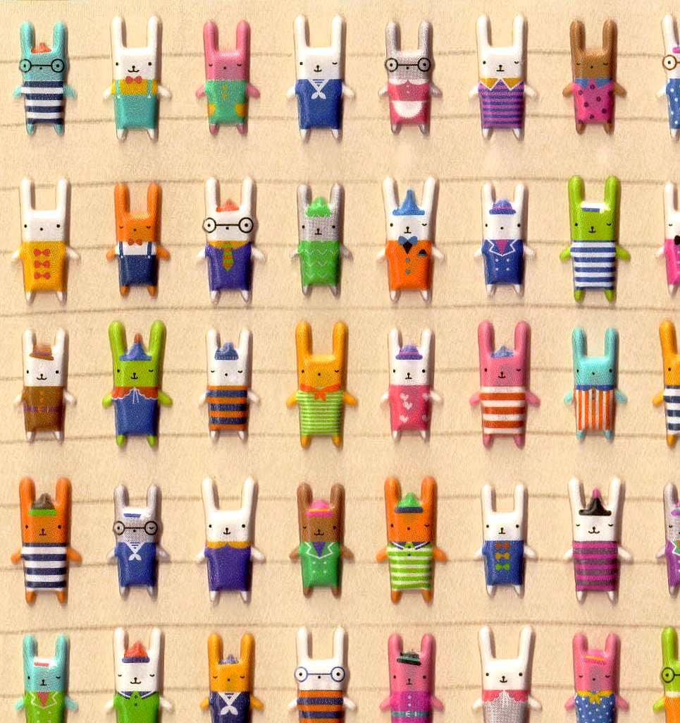 Stickers Kawaii KiKi Bunny 9,5 x 15cm 3D