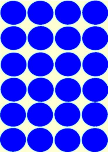 24 grosses pastilles bleu diamètre 30mm