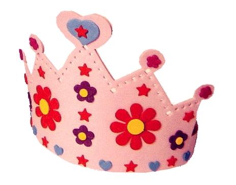 Kit cr atif couronne rose autocollante loisirs cr atifs kits cr atifs enfants magommette - Couronne princesse a decorer ...