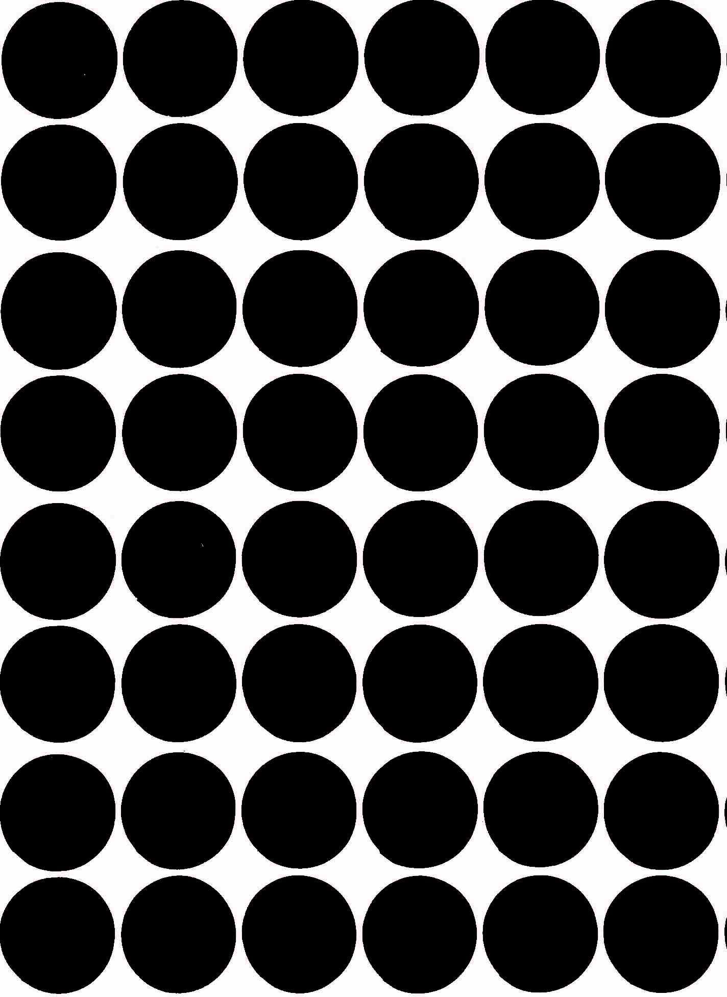 Populaire 48 Pastilles rondes autocollantes Noir 25mm - Gommettes Enfants  VV93