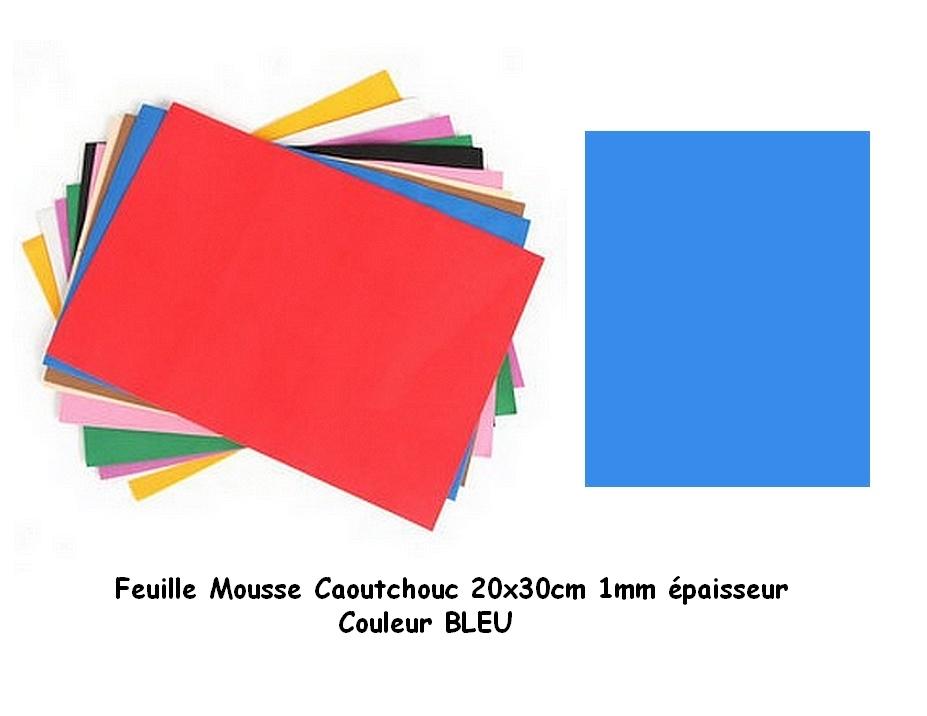Feuille Mousse EVA 1 mm 24 cm X 24 cm Bleu moyen