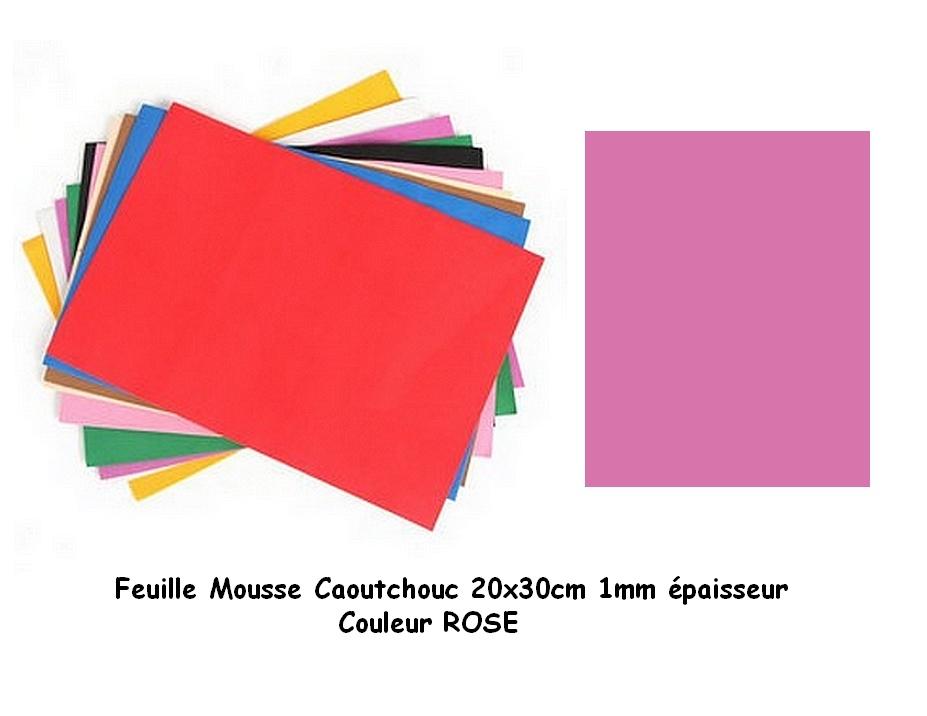 Feuille Mousse EVA 1 mm 24 cm X 24 cm Rose foncé