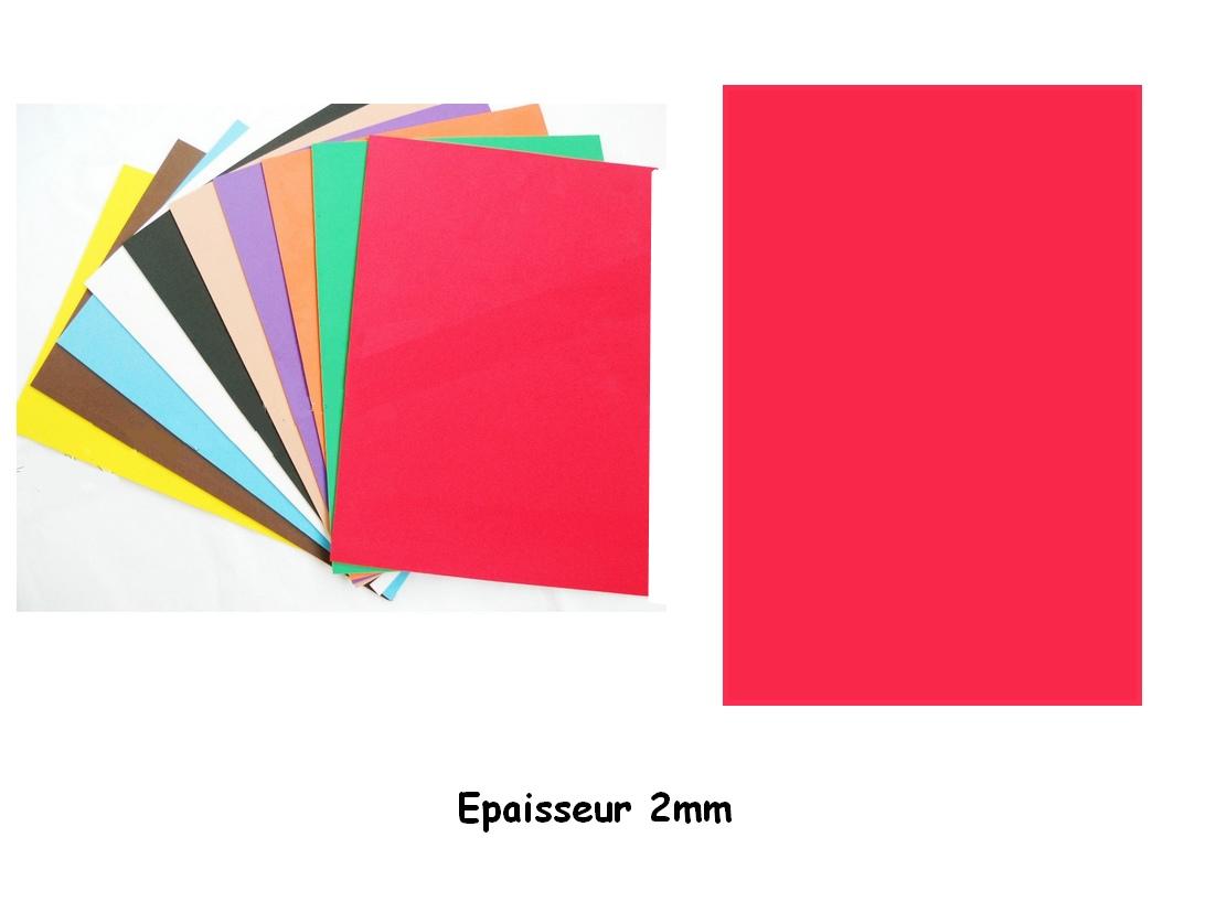 Feuille mousse EVA A4 2mm Rouge