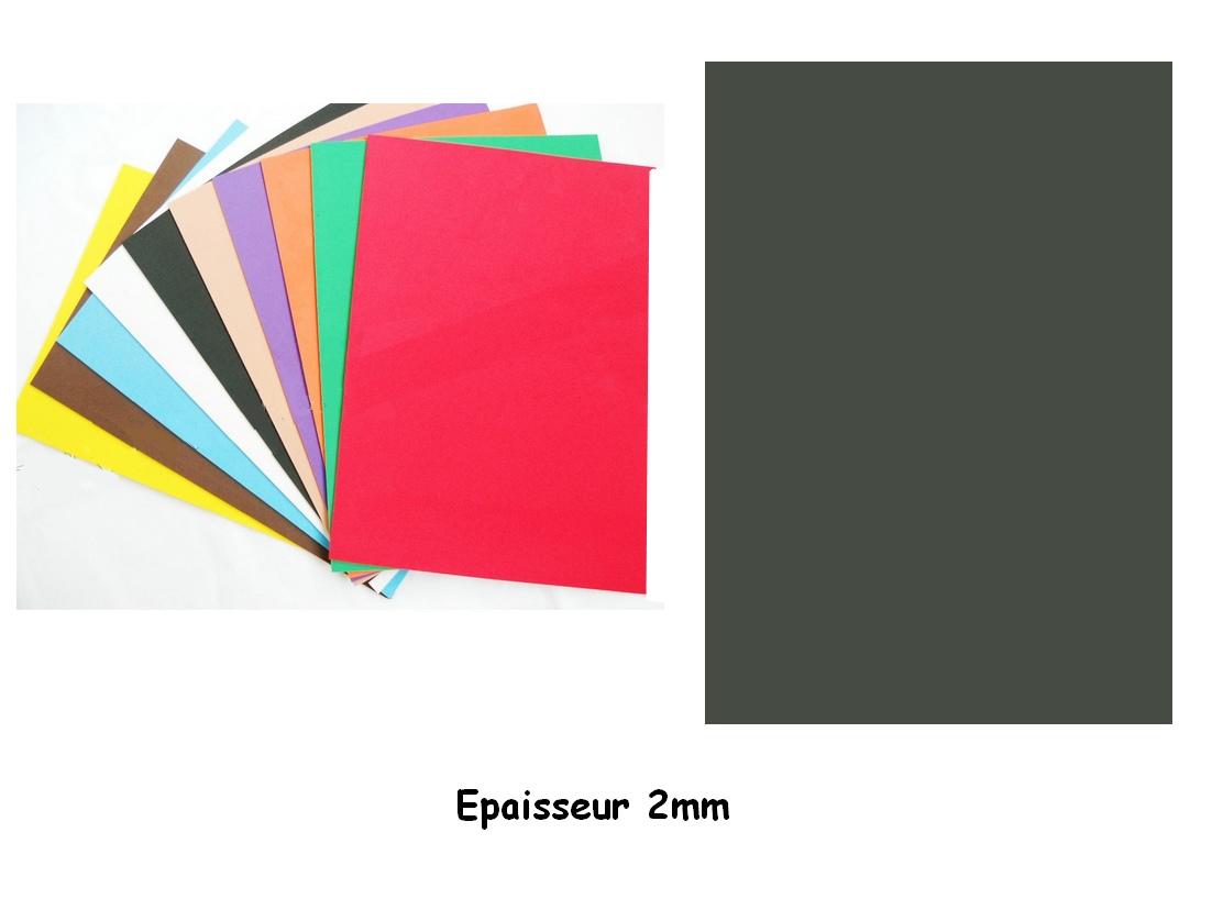 Feuille Mousse EVA A4 2 mm Noir