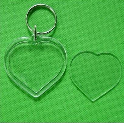 Porte clé Coeur à décorer