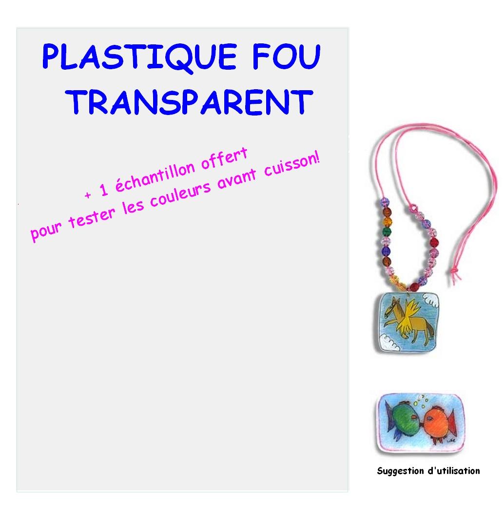 Plastique Fou Transparent A4 + 1 Echantillon offert
