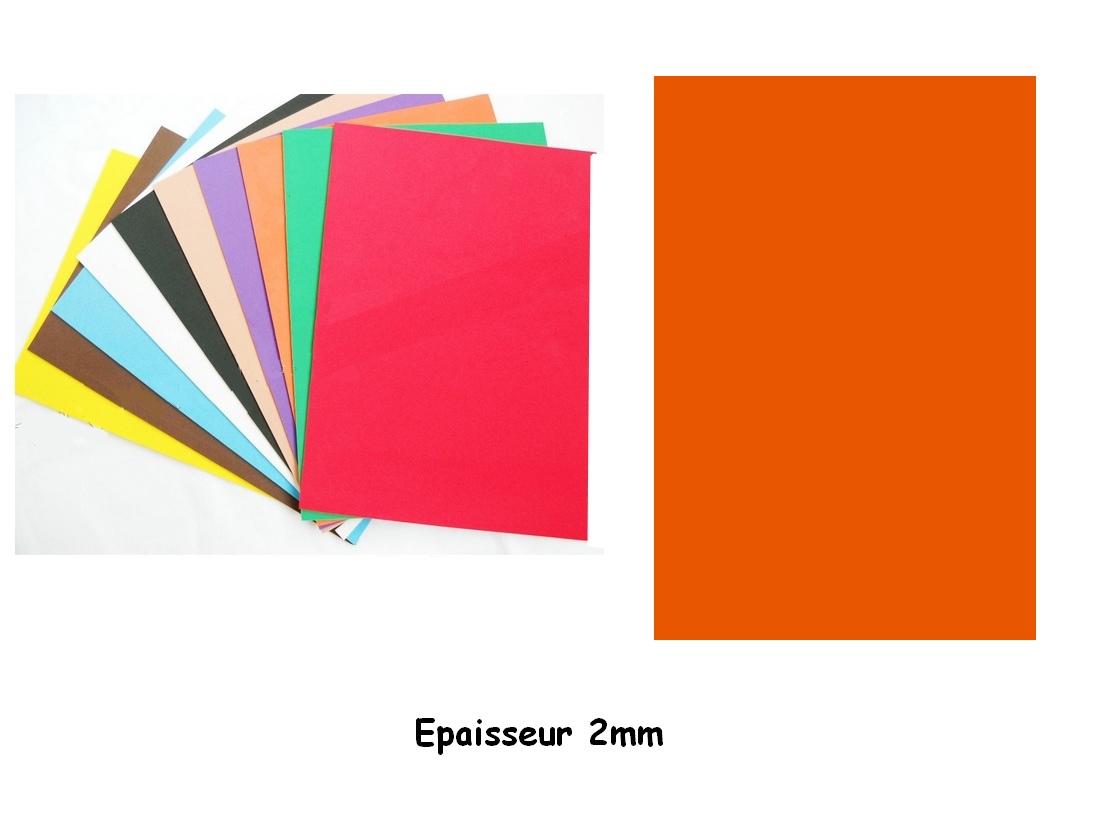 Feuille mousse EVA A4 2 mm Orange