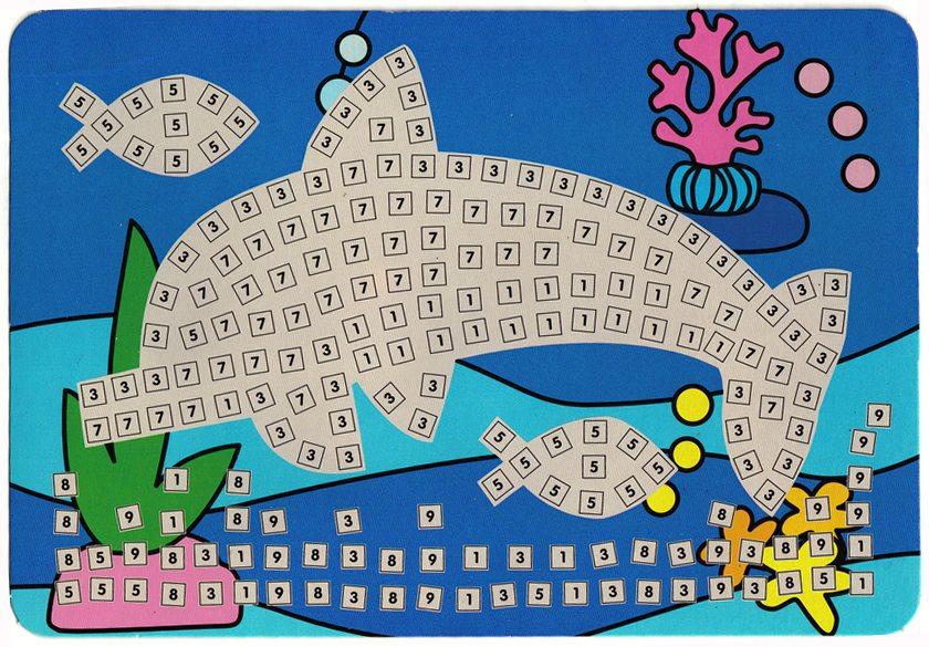 Mosaique autocollante dauphin kits creatifs kits - Modele mosaique a imprimer ...