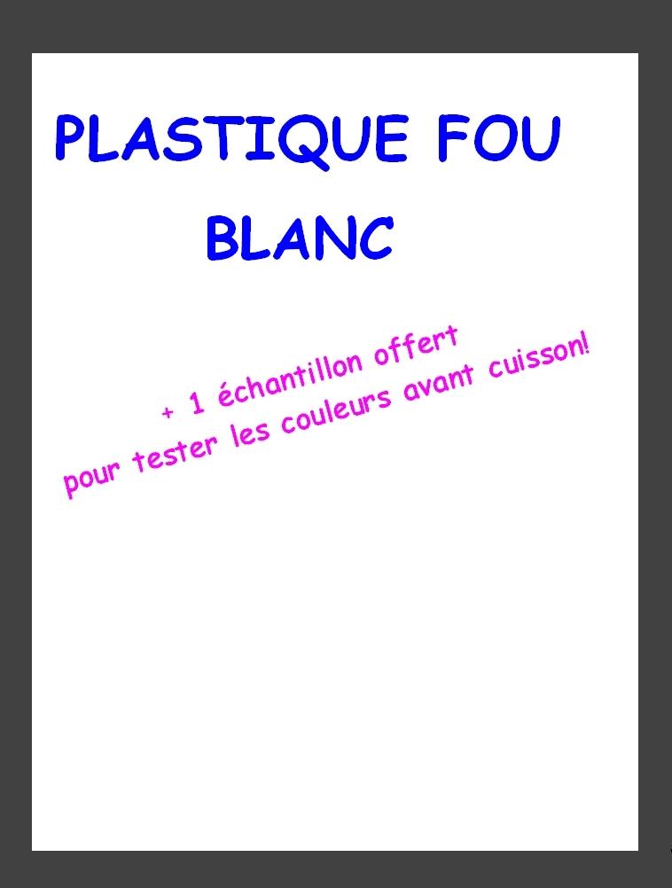 Plastique Fou Blanc A4 + 1 Échantillon offert