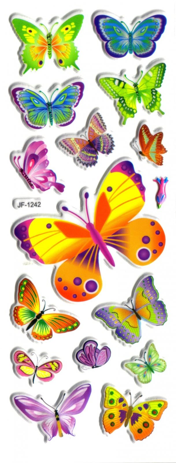Magommette gommettes autocollantes sticker adh sif 7x17cm for Papillon de decoration