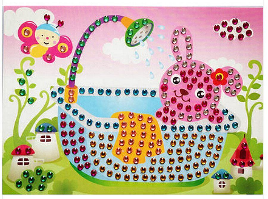 Puzzle mosaïque Strass Le Bain du Lapin