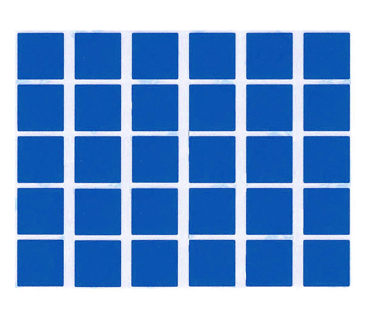 30 Gommettes carrées Bleues