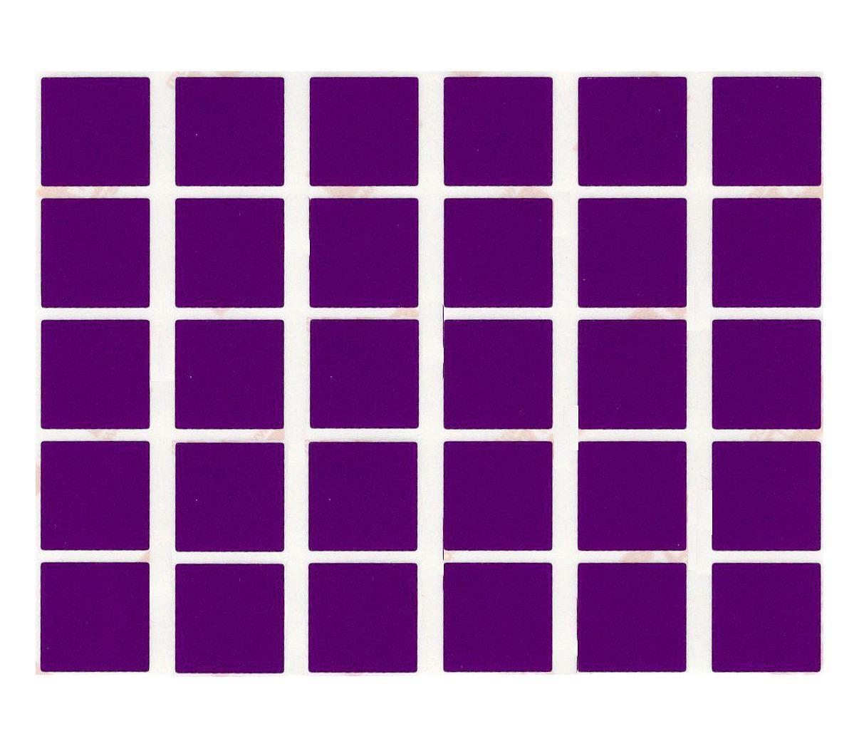 30 gommettes carre violette